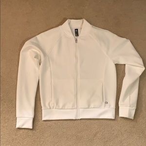 GapFit white bomber zip up, XS